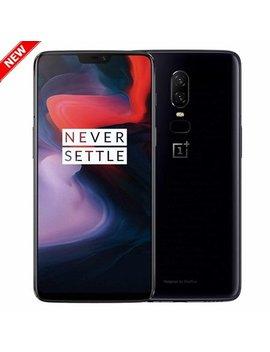 "New One Plus 6 64 Gb A6000 Dual Sim Gsm Factory Unlocked 4 G Lte 6.28"" Optic Amoled Display 6 Gb Ram Dual 16 Mp + 20 Mp Smartphone   Mirror Black   International Version by One Plus"