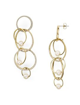 Pavé Overlapping Earrings by Nadri