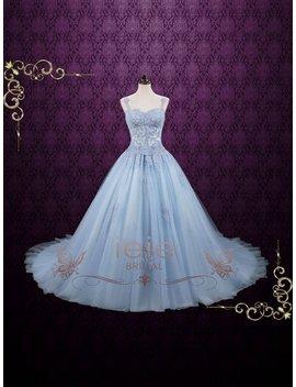 Powder Blue Cinderella Ball Gown Wedding Dress | Blude Wedding Dress | Princess Wedding Dress | Alternative Wedding Dress  | Seattle by Etsy