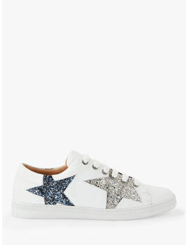 And/Or Edie Star Trainers, White Leather, White Leather by And/Or