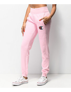 Champion Reverse Weave Sub C Candy Pink Jogger Sweatpants by Champion