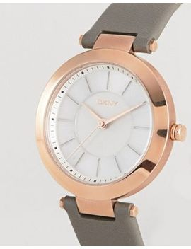 Dkny Ny2296 Ladies Grey Leather Watch With White Dial by Dkny