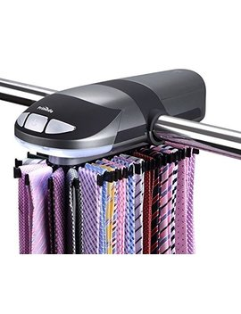 Primode Motorized Tie Rack, Rotation Operates With Batteries And Led Lights by Primode