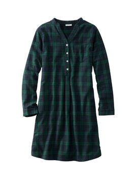Scotch Plaid Flannel Nightshirt, Popover Plaid by L.L.Bean