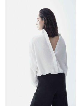 New Dress Shirt / Viscose Buttondown Shirt / Reverse Buttondown Shirt / Casual Top / Collared Blouse / Shirt / Marcellamoda   Mb1124 by Etsy