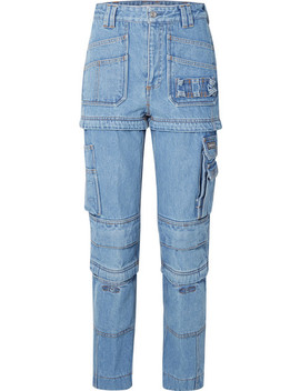 Convertible High Rise Straight Leg Jeans by Balenciaga