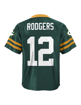 Nfl Boys' Player Jersey   Green Bay Packers Rodgers Nfl Boys' Player Jersey   Green Bay Packers Rodgers by Kmart