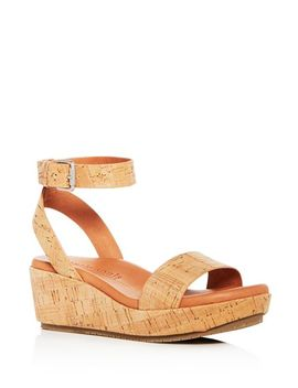 Women's Morrie Cork Platform Wedge Sandals by Gentle Souls By Kenneth Cole