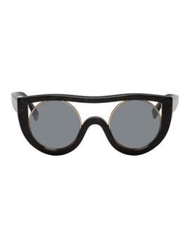 Black & Gold Ayer Sunglasses by Alain Mikli Paris