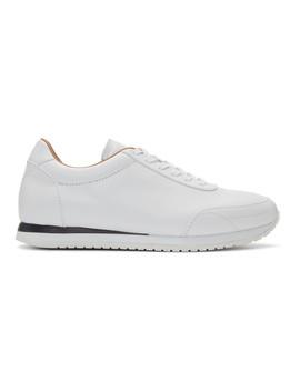 White Montato Sneakers by Brioni
