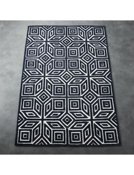 Shea Blue And White Rug by Crate&Barrel