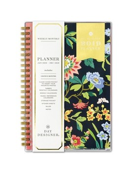 "2019 Planner 5""X 8"" Floral Navy   Day Designer by Day Designer"