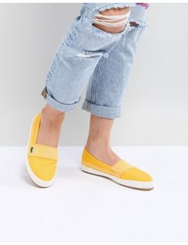 Lacoste Maurice 218 Slip On Espadrille In Yellow by Lacoste