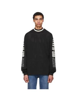 Black Mesh Motocross Jersey Sweater by Fear Of God
