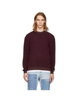 Burgundy Corduroy Crewneck Sweatshirt by John Elliott