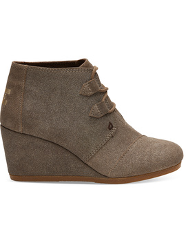 Dusty Gold Star Suede Women's Kala Booties by Toms