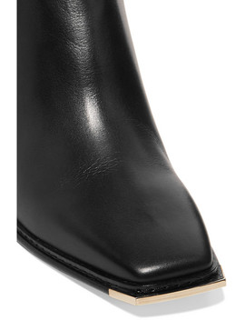 Mitzi 60 Leather Ankle Boots by Jimmy Choo