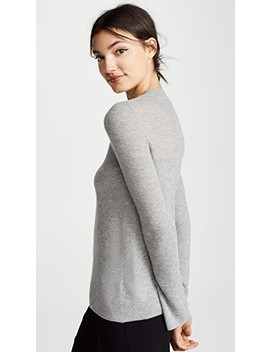 Flare Cashmere Crew Neck by Vince