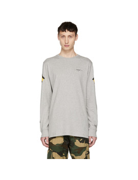 Grey Long Sleeve Arrows T Shirt by Off White