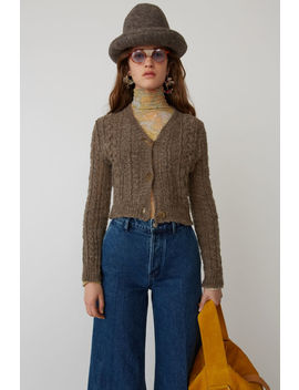 Cropped Cardigan Brown by Acne Studios