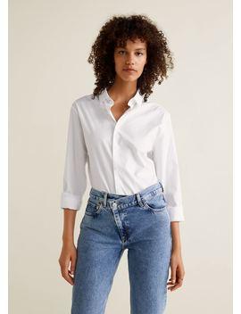 Jeans Straight De Fecho Cruzado by Mango