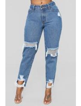 A Girl's Best Friend Boyfriend Jeans   Medium Blue Wash by Fashion Nova