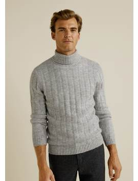 Structured Turtle Neck Sweater by Mango