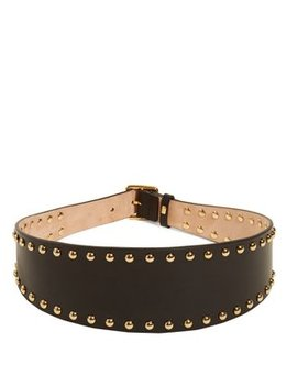 Stud Embellished Leather Waist Belt by Alexander Mc Queen