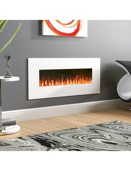 Wade Logan Lockport Pearl Wall Mounted Electric Fireplace & Reviews by Wade Logan