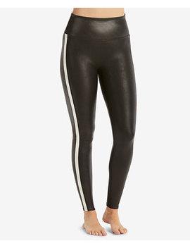 Tuxedo Stripe Faux Leather Leggings by Spanx