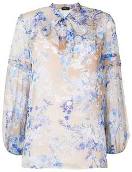 Pussy Bow Floral Blouse by Les Copains