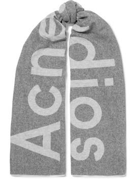 Toronto Schal Aus Einer Wollmischung Mit Intarsienmotiv by Acne Studios