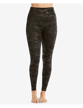 Camo Faux Leather Leggings by Spanx