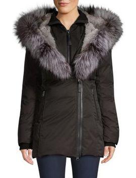 Priya X Fox Fur Trim Down Coat by Mackage