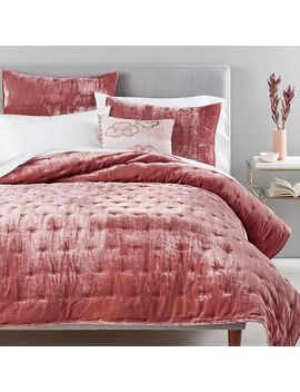 Lush Velvet Tack Stitch Quilt + Shams by West Elm
