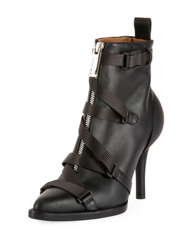 Tracy Strappy Front Zip Ankle Boot by Chloe
