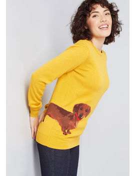 Sit, Stay, Sashay Dachshund Sweater by Sugarhill Brighton