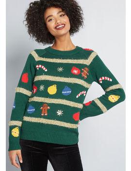 Ten Out Of Tinsel Sweater by Modcloth