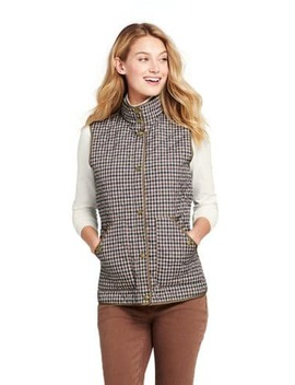 Women's Pattern Quilted Barn Insulated Vest by Lands' End
