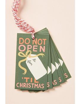 Rifle Paper Co. Don't Open Gift Tags, Set Of 10 by Rifle Paper Co.