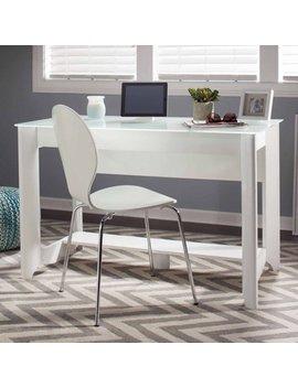 Bush Furniture Aero Collection Writing Desk In Pure White by Bush Furniture