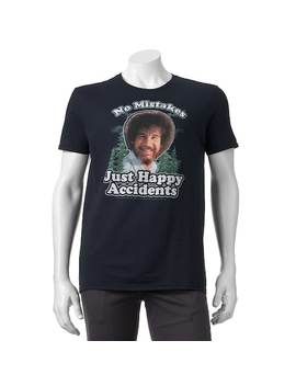 """Men's Bob Ross """"No Mistakes, Just Happy Accidents"""" Tee by Kohl's"""