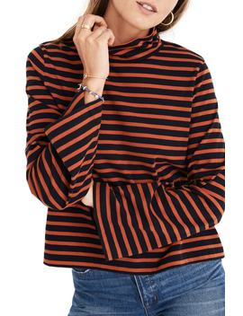 Stripe Wide Sleeve Turtleneck by Madewell