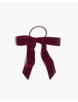 Velvet Bow Hair Tie by Madewell
