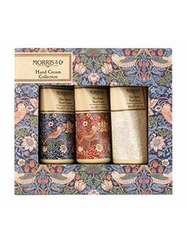 Morris & Co Strawberry Thief Shea Butter Hand Cream Collection Gift Set, 3 X 30 Ml by Morris & Co