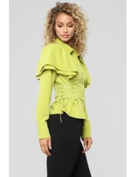 It's Good For You Top   Chartreuse by Fashion Nova