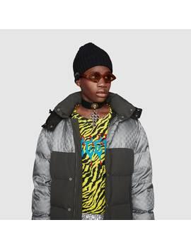 Jacke Aus Gg&Nbsp;Nylonjacquard by Gucci