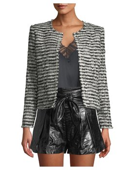 Emotion Open Front Tweed Cropped Jacket by Iro