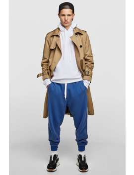 Oversized Trousers With Side Stripes  Joggers Trousers Man by Zara