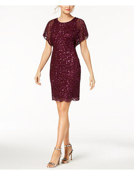 Petite Beaded Sequined Dress by Adrianna Papell